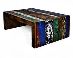 Check out this reclaimed wood furniture from Ecologica.  Super fun and edgy!