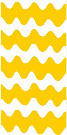 Tästä haluan verhot: Lokki-kangas (valkoinen, keltainen) | Kankaat, Puuvillakankaat | Marimekko