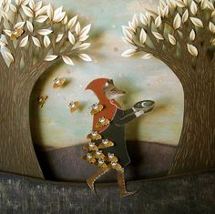 Kathleen Lolley Forest Magic Shadowbox. love the fox!