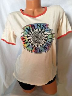 Women's Vans T- Shirt M/L Tie Dye Retro Off The Wall Ivory Cotton New #Vans #GraphicTee #retro #tiedye #freeshipping