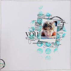 Mag&Scrap: Joyeux 10 ans !! Page + Carte Gel médium + encre acrylique