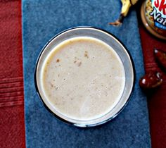 Date Peanut Butter Smoothie for a quick and easy energy drink for breakfast!@sonisfood