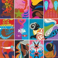 1969 Astrology Posters by Joe and Gerry Simboli