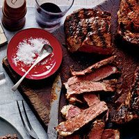 """AKA Delmonico steak. Naturally tender cut cooks up juicy, with a rich flavor of caramelized meat. These steaks are pricey, so look for ones with a large """"eye"""" and less surrounding fat."""
