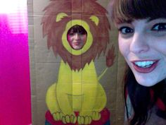 circus themed 1st birthday party... Rebecca D made this lion cut-out for the photo booth