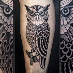 Tattoo Junnio Nunes coruja