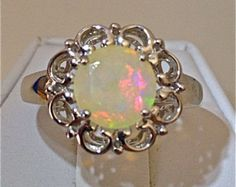 Ethiopian Opal Sterling Silver Ring