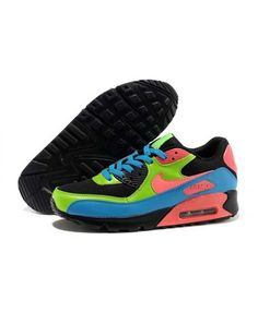 Nike Air Max 90 Knit Men'S Women'S Pink Black Blue Flurorescent Green Best Sale Blue Sneakers, Air Max Sneakers, Sneakers Nike, Shoes Uk, Nike Shoes, Air Max 90, Nike Air Max, Sports Shoes, Leather Men