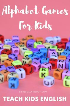 Teach kids the English alphabet with these fun games to learn ABC's Alphabet Games, Teaching The Alphabet, Teaching Kids, Learning English For Kids, Kids English, Alphabet Sounds, English Alphabet, Games For Kids, Fun Games