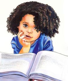 Smarty © Penny WEBER (Artist, Long Island, New York) via childrensillustrators. Artist site: http://pennyweberart.com/  Agent:  WendyLynn & Co., www.wendylynn.com. Cute little girl with big book. ... Give credit where due. Acknowledge the artist by name here in the caption. Check links before repinning. Pin or edit repin so to link to the Primary Source (Original online post). Promote blogs & other secondary sources here in the caption.