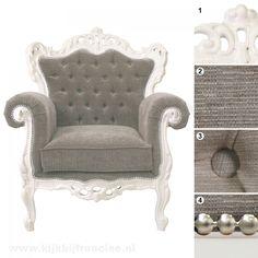Barox fauteuil Claudius: *voor in m'n grijze slaapkamer* <3
