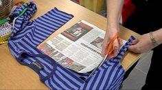 Katso, kuinka martta Ritva Silvennoinen tekee t-paidasta pipon käden käänteessä.