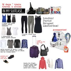 """""""1 Carry On 12 Days in Europe"""" by heidi-barry-rodriguez on Polyvore"""
