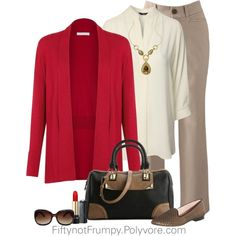 """""""Powerful Red"""" by fiftynotfrumpy on Polyvore"""