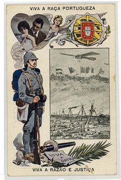 Ww1 Posters, Political Posters, World War One, First World, Vintage Ads, Vintage Posters, Portuguese Empire, Lifelong Friends, Lisbon Portugal