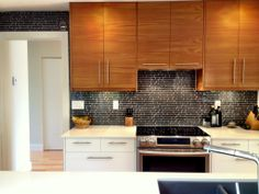 IKEA® kitchen with Semihandmade Flatsawn Teak fronts.