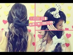 DIY: Hair Bow - Differents Hair Bows accessories to make