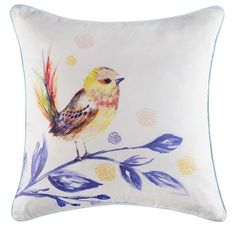 Cushion cover kas size 45 x 45cm tallow multi bird design square NOW ON SALE A