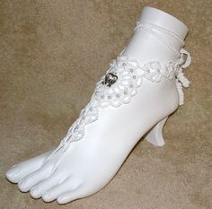 Barefoot Wedding Sandals with Doves