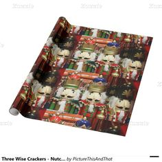 Three Wise Crackers - #Nutcracker Soldiers Wrapping Paper #Zazzle #Gravityx9 #christmas