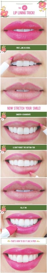 Tips for Lining Your Lips Like a Pro - QUICK LIP TIP - Easy Tutorials and Awesome Hacks For Lip Liners - Kylie Jenner Tutorials and Black Women Tips - Thin Contouring Tutorials and Hacks for Eye Brows (Prom Hair Thin) Beauty Nails, Diy Beauty, Beauty Makeup, Beauty Style, Lip Tips, Makeup Tips, Makeup Hacks, Eyes Nose, Make Up Tutorials