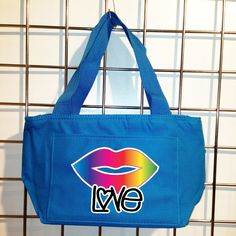 Rainbow Lips Insulated Lunch Bag (Turquoise) - LikeWear