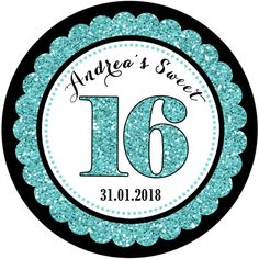 Personalised adult adults sweet 16 16th birthday party stickers favours gifts