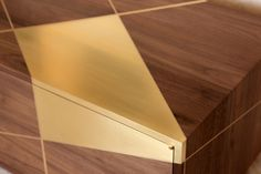 Detail on Anamorphic Console by Asher Israelow