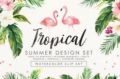 Summer Design Set-Tropical - Illustrations