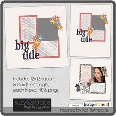 Template freebie from Suzy Q Scraps #scrapbook #digiscrap #scrapbooking #digifree #scrap