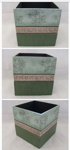 . Stencil Art, Stencils, Cigar Box Crafts, Diy And Crafts, Arts And Crafts, Decoupage Box, Mdf Wood, Covered Boxes, Casket
