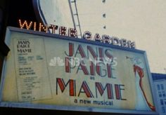 Broadway marquee Mame Winter Garden Theatre Janis Paige