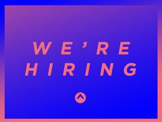 We're Hiring by ryansworth (Elevation Church)  Very simple take on trying to meet a need for their church.  Great Social Media Graphic for either Facebook or Instagram.  With a well worded this color scheme on the graphic will really pop and help people to stop to scroll.