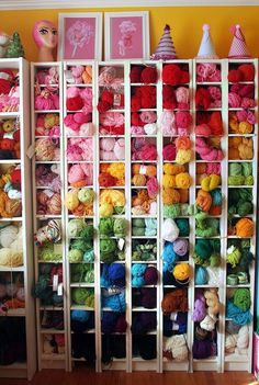 Chan's Craft Room Twinkie Chan's Craft Room · Craft Room Tours · Cut Out + Keep ❤Just love the way this looks!Twinkie Chan's Craft Room · Craft Room Tours · Cut Out + Keep ❤Just love the way this looks! Yarn Storage, Craft Room Storage, Storage Ideas, Craft Rooms, Storage Units, Small Storage, Storage Solutions, Knitting Room, Knitting Yarn