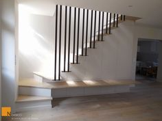 My Home Remodeling Loft Stairs, Basement Stairs, House Stairs, Escalier Design, Flur Design, Stair Walls, Small Space Interior Design, Hallway Designs, Modern Stairs