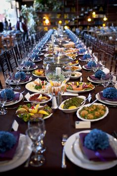 Looooong table setting with Anoushu0027s Family Style Appetizers & Our new timber table runners were a massive hit yesterday at the ...