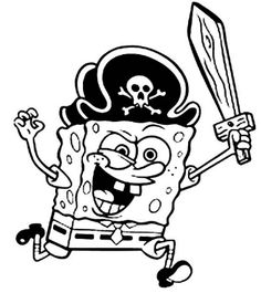 Spongebob The Pirates Coloring Pages