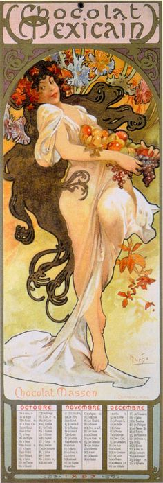 A. Mucha - Automne (Chocolat Mexicain)