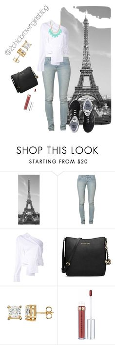 """""""Camila casual in Paris"""" by chicbrowngirlblog ❤ liked on Polyvore featuring Brewster Home Fashions, Cheap Monday, Erika Cavallini Semi-Couture, adidas Originals, MICHAEL Michael Kors and INC International Concepts"""