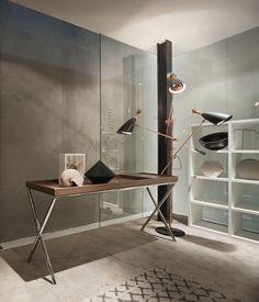 Sideboard table / contemporary / metal / walnut NOVEL LEMA Home