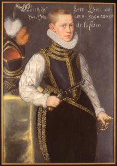 Daniël van den Queborn, portrait of Prince Maurice of Orange, 1579