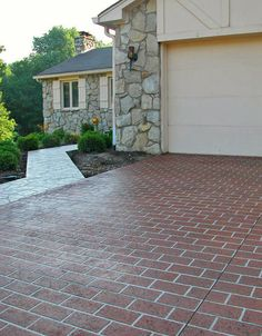 stenciled concrete driveway