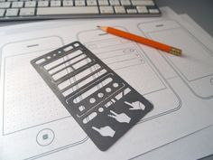 #UX sketching stencil from Poland
