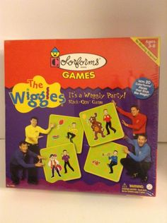 The Wiggles It's a Wiggly Party!  3-8 Stick On Colorforms Game Nrw In Sealed Box #Colorforms