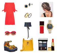 """""""The Summer Fever look"""" by maria-dimitradiou on Polyvore featuring TIBI, Caroline Constas, Hermès, Tom Ford, Lord & Taylor, Max&Co., Versace and Suneera"""