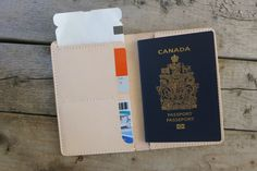 Personalized Veg-Tanned Leather Passport Case, Passport Cover, Boarding Pass Holder