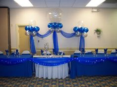 royal blue yellow and silver centerpiece | Royal+and+Silver+Wedding+Head+Table.jpg