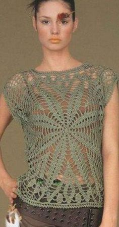 Crochet Top - Free Crochet Diagram - (woman7)
