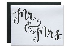 Mr & Mrs wedding card – Paper Luxe