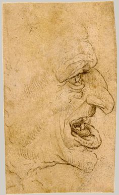 """copy after Leonardo da Vinci; Grotesque Head: Man in Profile to Right; pen and brown ink; """"Copy after Leonardo da Vinci: Grotesque Head: Man in Profile to Right"""" (17.142.3) In Heilbrunn Timeline of Art History . New York: The Metropolitan Museum of Art, 2000–. http://www.metmuseum.org/toah/works-of-art/17.142.3. (October 2006)"""